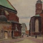 Kraków fragment z placu Mariackiego