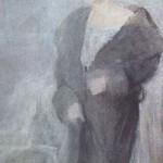 Portret kobiety w balowej sukni, lata 30-te XX w.