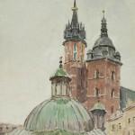 Motyw z Rynku Krakowskiego, kościół św. Wojciecha i Najświętszej Marii Panny