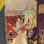 Praga. Widok z radnickich schodów