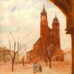 Widok na kosciół Mariacki w Krakowie